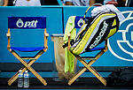 Rafael Nadal's Babolat gear during the Day 7 of the PTT Thailand Open at Impact Arena on October 1, 2010 in Bangkok, Thailand. Photo by Victor Fraile / The Power of Sport Images