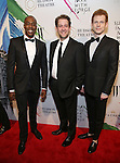 Michael McElroy, Andrew Kober and Max Chernin attends 'Sunday In The Park With George' Broadway opening night after party at New York Public Library on February 23, 2017 in New York City.