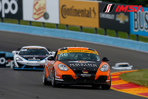 IMSA Continental Tire SportsCar Challenge<br /> Continental Tire 120 at The Glen<br /> Watkins Glen International, Watkins Glen, NY USA<br /> Thursday 29 June 2017<br /> 56, Porsche, Porsche Cayman, ST, Jeff Mosing, Eric Foss<br /> World Copyright: Jake Galstad/LAT Images