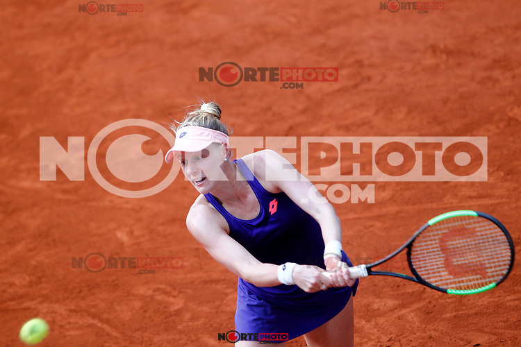 Alison Riske, USA, during Madrid Open Tennis 2017 match. May 8, 2017.(ALTERPHOTOS/Acero) /NortePhoto.com