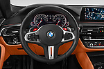 Car pictures of steering wheel view of a 2018 BMW M5 Base 4 Door Sedan