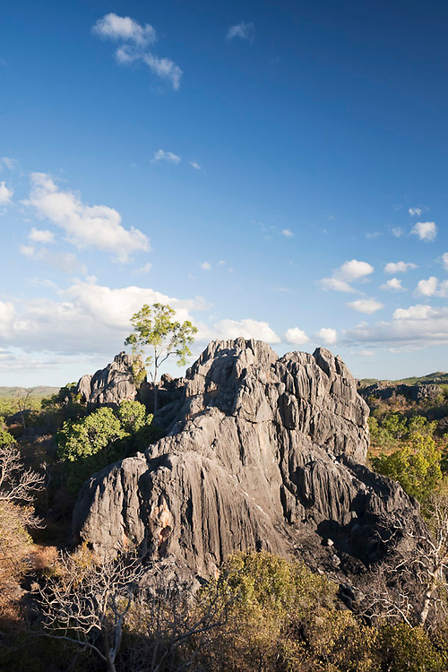 Karst scenery of the Chillagoe-Mungana Caves National Park.  Chillago, Queensland, Australia
