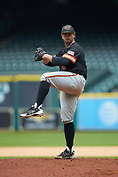 Sam Houston State Bearkats relief pitcher Dakota Mills (41) in action against the Kentucky Wildcats during game four of the 2018 Shriners Hospitals for Children College Classic at Minute Maid Park on March 3, 2018 in Houston, Texas. The Wildcats defeated the Bearkats 7-2.  (Brian Westerholt/Four Seam Images)
