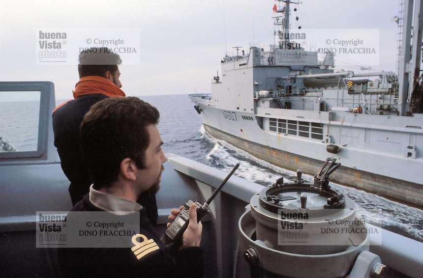 - the Meuse refueling ship of French Navy during NATO exercises in  Mediterranean sea....- la nave da rifornimento Meuse della Marina Francese durante esercitazioni NATO nel mar Mediterraneo