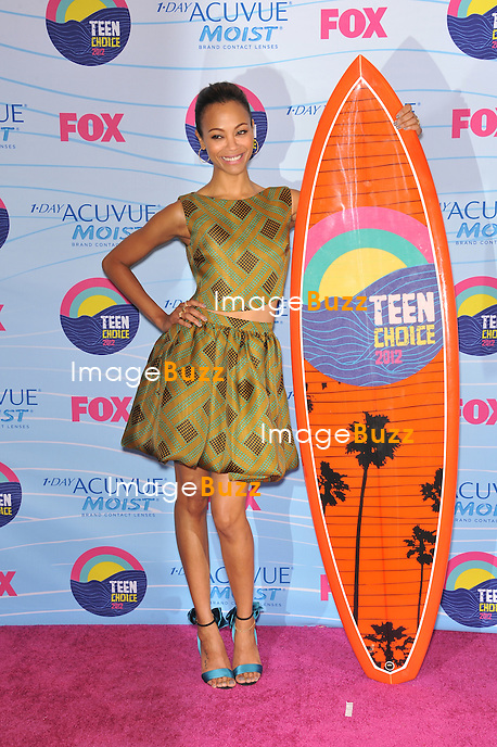 Zoe Saldana at the 2012 Teen Choice Awards at the Gibson Amphitheatre, Universal City..July 23, 2012  Los Angeles, CA.