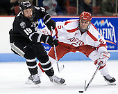 Derek Army (PC - 19), Adam Clendening (BU - 5) - The Boston University Terriers defeated the visiting Providence College Friars 6-1 on Friday, January 20, 2012, at Agganis Arena in Boston, Massachusetts.