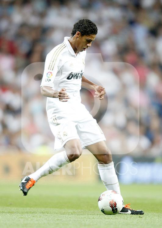 Real Madrid's Raphaël Varane during La Liga Match. September 24, 2011. (ALTERPHOTOS/Alvaro Hernandez)