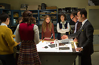 Good Girls Revolt (2015 - )<br /> 'Pilot' (Season 1, Episode 1)<br /> center:  Genevieve Angelson, right of center: Grace Gummer, second from right: James Belushi, far right: Chris Diamantopoulos<br /> *Filmstill - Editorial Use Only*<br /> CAP/KFS<br /> Image supplied by Capital Pictures