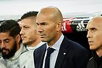 Zinedine Zidane coach of Real Madrid during La Liga match between Real Madrid and CD Leganes at Santiago Bernabeu Stadium in Madrid, Spain. October 30, 2019. (ALTERPHOTOS/A. Perez Meca)
