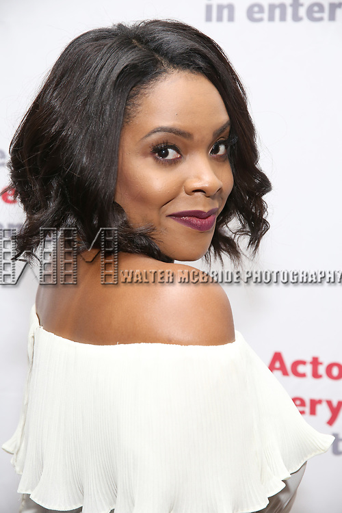Byronha Marie Parham attends The Actors Fund Annual Gala at the Marriott Marquis on 5/8//2017 in New York City.