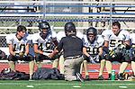 Culver City, CA 09/12/13 - Danny Graham (Peninsula Coach), Cameron Ghaffari (Peninsula #10), Andrew Condon (Peninsula #45), \pj20\ and \pj52\ in action during the Peninsula vs Culver City Junior Varsity game at Culver City High School.