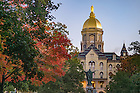 October 14, 2016; Main Building at sunrise (Photo by Matt Cashore/University of Notre Dame)