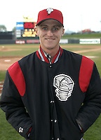 April 21, 2004:  Ronnie (Bear) Bay of the Lansing Lugnuts, Low-A Midwest League affiliate of the Chicago Cubs, during a game at Oldsmobile Park in Lansing, MI.  Photo by:  Mike Janes/Four Seam Images