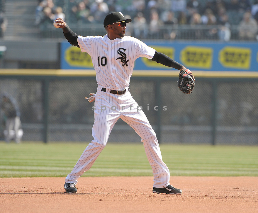 ALEXEI RAMIREZ, of the Chicago White Sox , in actions during the White Sox game against the Tampa Bay Rays  at US Cellular Field on April 9, 2011.  The Chicago White Sox won the game beating the Tampa Bay Rays 4-2.