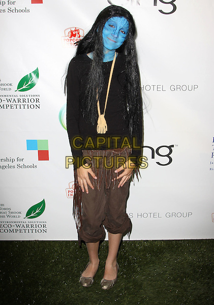 LULA .40th Annivesary of Earth Day held At The JW Marriott LA Live, Los Angeles, California, USA, 22nd April 2010..full length blue painted face black  brown trousers cropped avatar  paint make-up .CAP/ADM/KB.©Kevan Brooks/AdMedia/Capital Pictures.