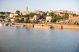 SERBIA, Belgrade, The Belgrade Waterfront and the Sava River at Sunset, Eastern Europe