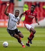 7th July 2020; City Ground, Nottinghamshire, Midlands, England; English Championship Football, Nottingham Forest versus Fulham; Joshua Onomah of Fulham beats Sammy Ameobi of Notts Forest