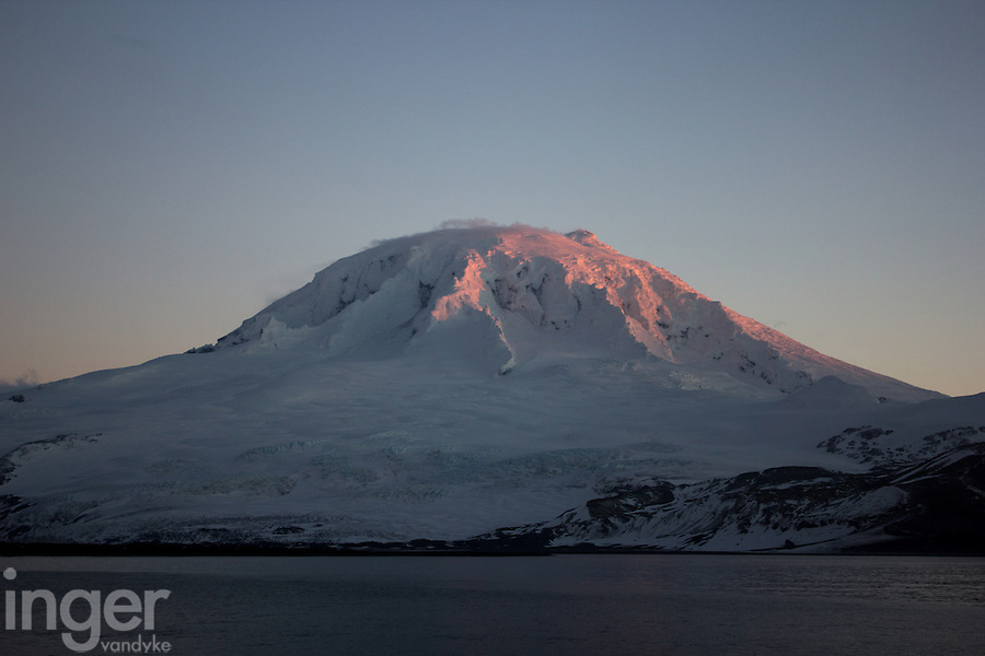Mawson's Peak at sunset, Heard Island, Antarctica
