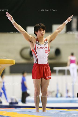 Yusuke Tanaka, <br /> MAY 17, 2015 - Artistic Gymnastics : <br /> The 54th NHK Cup <br /> Men's Individual All-Around <br /> Vault <br /> at Yoyogi 1st Gymnasium, Tokyo, Japan. <br /> (Photo by YUTAKA/AFLO SPORT)