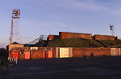 Rear view of the Kop,following day demolition contractors arrived on site......© Phill Heywood.tel 07806 775649