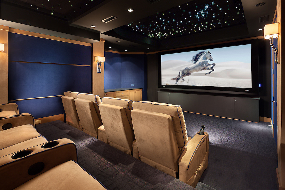 Home Theater with Constellation Ceiling