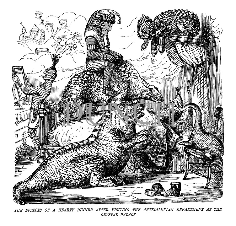 The Effects of a Hearty Dinner After Visiting the Antediluvian Department at the Crystal Palace.