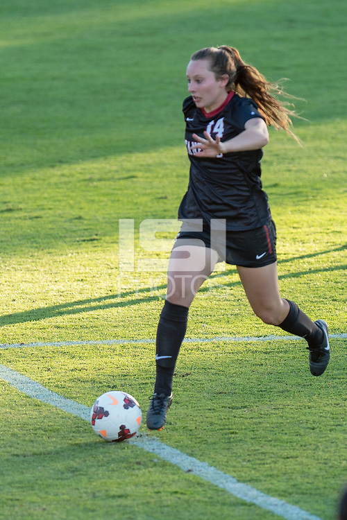 September 6, 2013: Siobhan Cox during the Stanford vs Loyola Marymount women's soccer match in Stanford, California.  Stanford won 4-0.