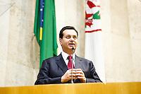 SAO PAULO, SP, 25 DE MARCO 2013 - SOLENIDADE DE ANIVERSÁRIO DO PCdoB.- Solenidade de comemoração dos 91 anos do Partido Comunista do Brasil (PCdoB), o evento conto com a presença de nomes da política como:o presidnete do partido Renato Rabelo, a vereadora Leci Brandão, o vereador Orlando Silva (PCdoB),o ex presidente Luiz Inácio Lula, o ex-prefeito Gilberto Kassab (PSD), a ministra da cultura Marta Suplicy (PT).Local: Câmara Municipal de São Paulo, na região do centro, cidade de São Paulo nesta segunda-feira, 25. .FOTO: POLINE LYS - BRAZIL PHOTO PRESS.