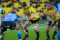 Hurricanes' James Blackwell in action during the Super Rugby quarterfinal between the Hurricanes and Bulls at Westpac Stadium in Wellington, New Zealand on Saturday, 22 June 2019. Photo: Dave Lintott / lintottphoto.co.nz