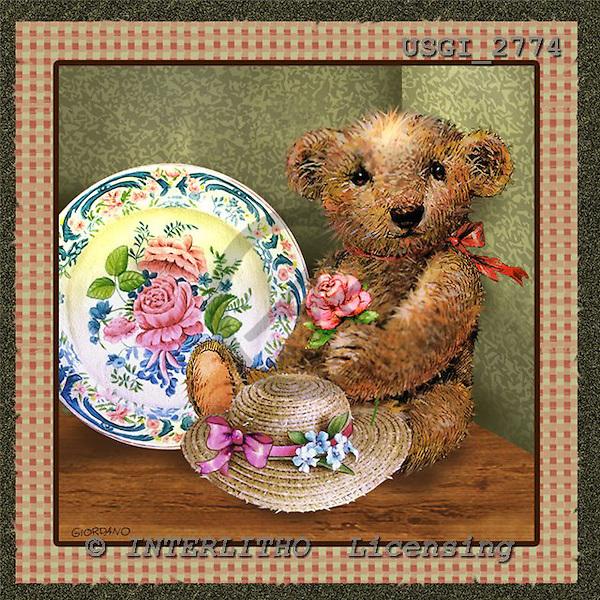 GIORDANO, CUTE ANIMALS, LUSTIGE TIERE, ANIMALITOS DIVERTIDOS, Teddies, paintings+++++,USGI2774,#AC# teddy bears