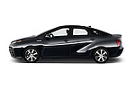 Car Driver side profile view of a 2016 Toyota Mirai Mirai 4 Door Sedan Side View