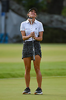 Jaye Marie Green (USA) reacts to barely missing her long birdie putt on 9 during round 3 of the 2019 US Women's Open, Charleston Country Club, Charleston, South Carolina,  USA. 6/1/2019.<br /> Picture: Golffile | Ken Murray<br /> <br /> All photo usage must carry mandatory copyright credit (© Golffile | Ken Murray)