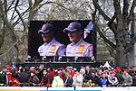 Motorsport: DTM Vorstellung  2008 Duesseldorf<br /><br />Ralf Schumacher und Jamie Green bei der Praesentation in Duesseldorf auf der Videoleinwand vor den Zuschauern.<br /><br /><br />Foto © nph (nordphoto)<br /><br /><br /><br /><br /> *** Local Caption ***