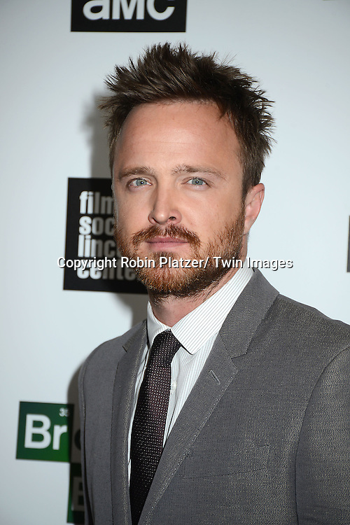 """Aaron Paul attends the Film Society of Lincoln Center and AMC celebration of  the final episodes of  """"Breaking Bad"""" at the Walter Reade Theatre in Lincoln Center  in New York City on July 31, 2013"""