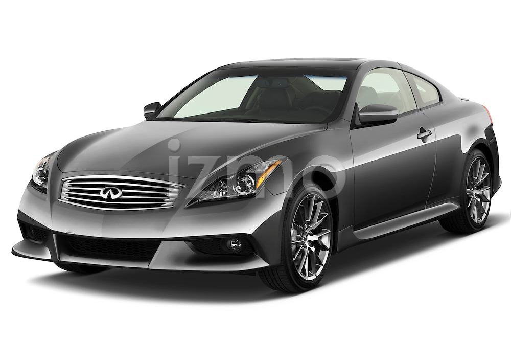 Front three quarter view of a 2011 Infiniti G37 IPL Coupe.