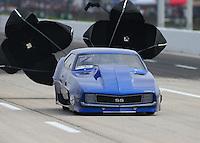 Apr 24, 2015; Baytown, TX, USA; NHRA  pro mod driver Jim Bell during qualifying for the Spring Nationals at Royal Purple Raceway. Mandatory Credit: Mark J. Rebilas-
