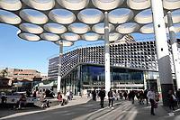 Nederland Utrecht - 2018. Glazen overkapping tussen Hoog Catharijne en Station Utrecht CS.  Foto Berlinda van Dam / Hollandse Hoogte