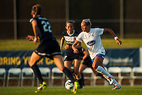 Boston Breakers forward Kyah Simon (17). Sky Blue FC defeated the Boston Breakers 5-1 during a National Women's Soccer League (NWSL) match at Yurcak Field in Piscataway, NJ, on June 1, 2013.