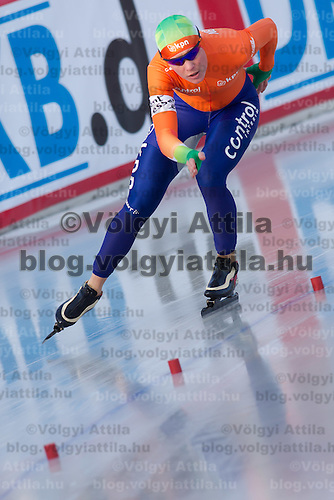 Netherlands's Diane Valkenburg competes in Women's 5000m race of the Speed Skating All-round European Championships in Budapest, Hungary on January 8, 2012. ATTILA VOLGYI