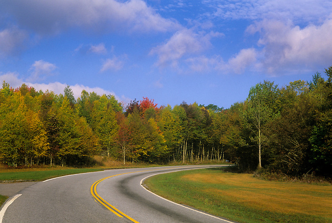 Blue Ridge Highway leading onto the Cherokee Qualla Indian Reservation in North Carolina.