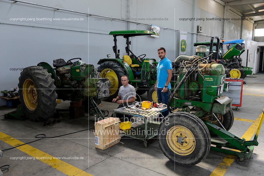TURKEY Manisa, John Deere Distributor, tractor workshop / TUERKEI Manisa, John Deere Haendler, Traktoren Werkstatt