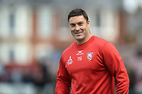 Matt Banahan of Gloucester Rugby looks on during the pre-match warm-up. Gallagher Premiership match, between Gloucester Rugby and Bath Rugby on April 13, 2019 at Kingsholm Stadium in Gloucester, England. Photo by: Patrick Khachfe / Onside Images