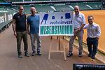 14.06.2019, Wohninvest Weserstadion, Bremen, GER, 1.FBL, Werder Bremen Partnerschaft mit Wohninvest, <br /> <br /> Werder Bremen hat die Namensrecht für 10 Jahre an die Wohninvest in Stuttgart verkauft. Das Stadiuon wird künftig wohninvest Weserstadion heißen<br /> im Bild<br /> Klaus Filbry (Vorsitzender der Geschäftsführung / Kaufmännischer Geschäftsführer SV Werder Bremen)<br /> Harald Panzer ( Chief Exceutive Officer)<br /> Heinz-Günther / Guenther Zobel (BWS <br /> Niko Kappel ( Paralympicsieger,. Weltmeister im Kugelstossen)Geschaeftsfuehrer)<br /> <br /> <br /> <br /> Foto © nordphoto / Kokenge