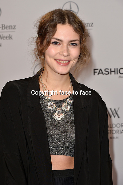 Isis Niedecken (ELLE-Model-Contest-winner 2013) attending the STYLIGHT Fashion Blogger Awards fashion show during the Mercedes-Benz Fashion Week Autumn/Winter 2013/14 Berlin in Berlin 13.01.2014. Credit Timm/face to face