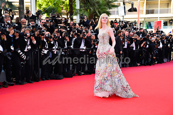 23 May 2017 - Cannes, France - Elle Fanning. 70th Anniversary Cannes Red Carpet Arrivals during the 70th Cannes Film Festival. Photo Credit: JanSauerwein/face to face/AdMedia