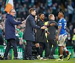 29.12.2019 Celtic v Rangers: Alfredo Morelos walks down the tunnel