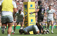 Saracens' Billy Vunipola scores his sides first Try<br /> <br /> Photographer Rachel Holborn/CameraSport<br /> <br /> Aviva Premiership Final - Exeter Chiefs v Saracens - Saturday 26th May 2018 - Twickenham Stadium - London<br /> <br /> World Copyright &copy; 2018 CameraSport. All rights reserved. 43 Linden Ave. Countesthorpe. Leicester. England. LE8 5PG - Tel: +44 (0) 116 277 4147 - admin@camerasport.com - www.camerasport.com