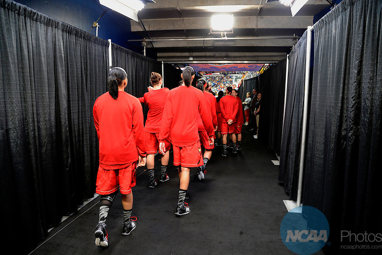 09 APR 2013:  The University of Louisville takes on the University of Connecticut during the Division I Women's Basketball Championship in New Orleans, LA.  Jamie Schwaberow/NCAA Photos