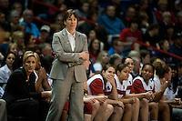 SPOKANE, WA - MARCH 26, 2011: Head Coach Tara VanDerveer, Stanford Women's Basketball vs University of North Carolina, NCAA West Regionals on March 26, 2011.