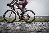 Geoffrey SOupe (Fra/Team Cofidis) on the cobbles.<br /> <br /> 73th Dwars Door Vlaanderen (1.UWT)<br /> 1day race: Roeselare &rsaquo; Waregem BEL (180km)